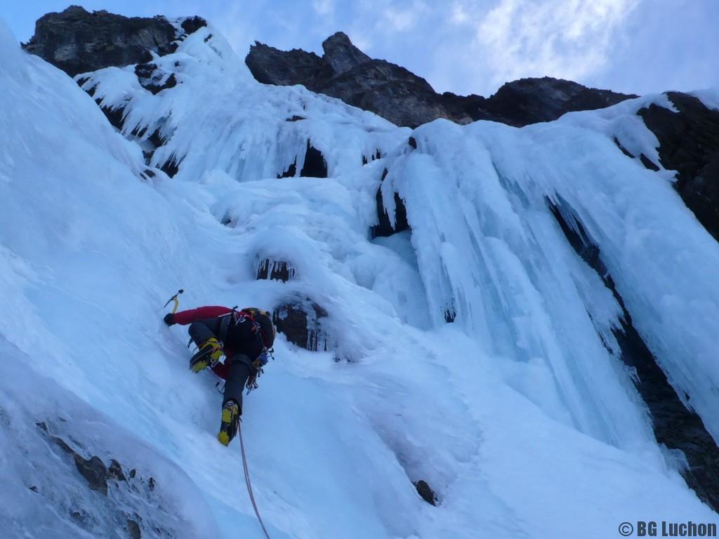 Cascade de glace grande voie
